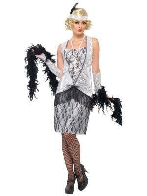 Razzle Dazzle Silver 1920's Women's Flapper Costume