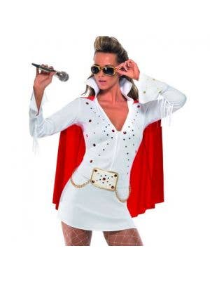 Viva Las Vegas Women's White Elvis Costume