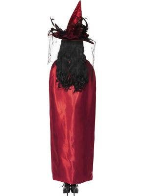 Reversible Black and Red Satin Witches Cape