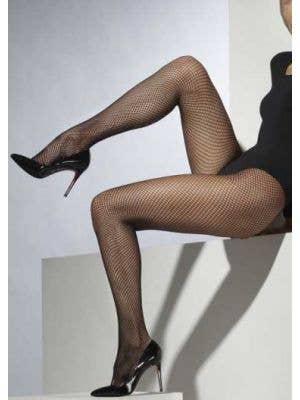 Full Length Black Fishnet Pantyhose
