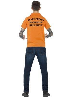 Orange Convict Instant Costume For Teens