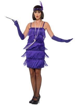 Glitzy Flapper Women's Purple 1920's Costume