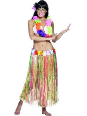 Multicoloured Women's Hawaiian Hula Skirt