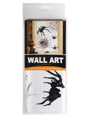 Spiders and Cobwebs Wall Art Halloween Decoration