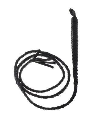 Long Black Catwoman Bull Whip Costume Accessory