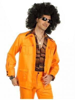 70's Deluxe Retro Leisure Suit Costume in Orange