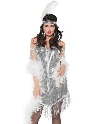 Swingin' Silver Women's 1920's Flapper Costume