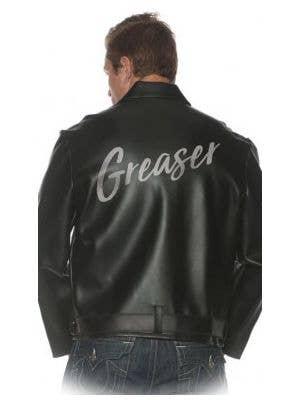 1950's Greaser Black Leather Look Men's Costume Jacket