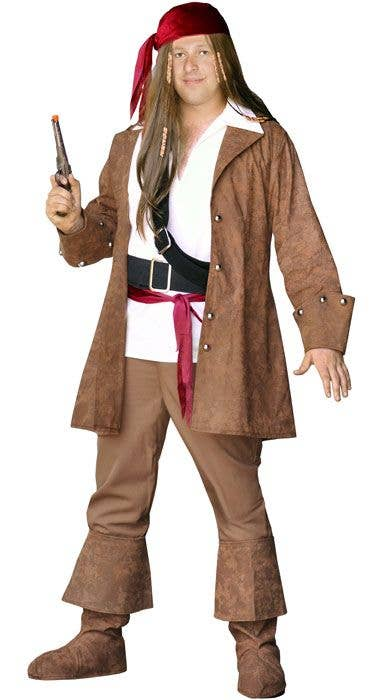 Plus Size Men/'s Sparrow Pirate Costume