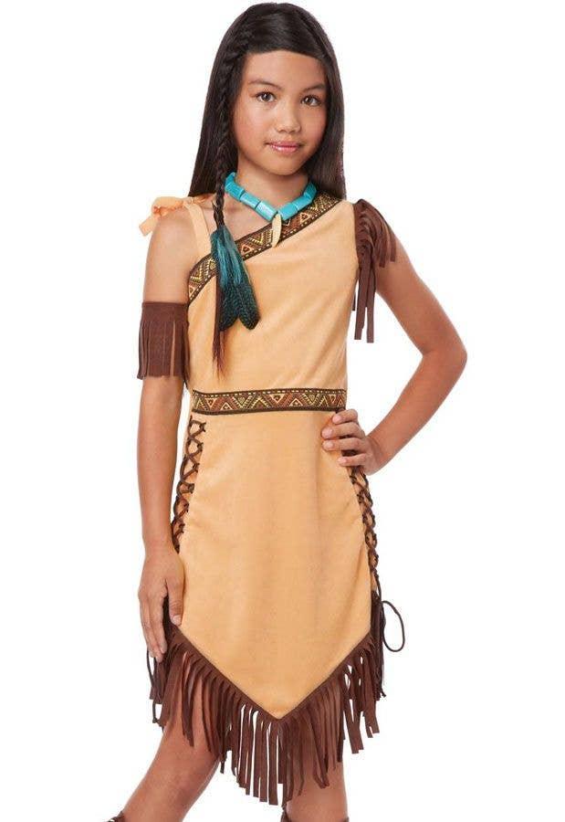 GIRLS NATIVE INDIAN FANCY DRESS WILD WEST SCHOOL CURRICULUM BOOK DAY COSTUME