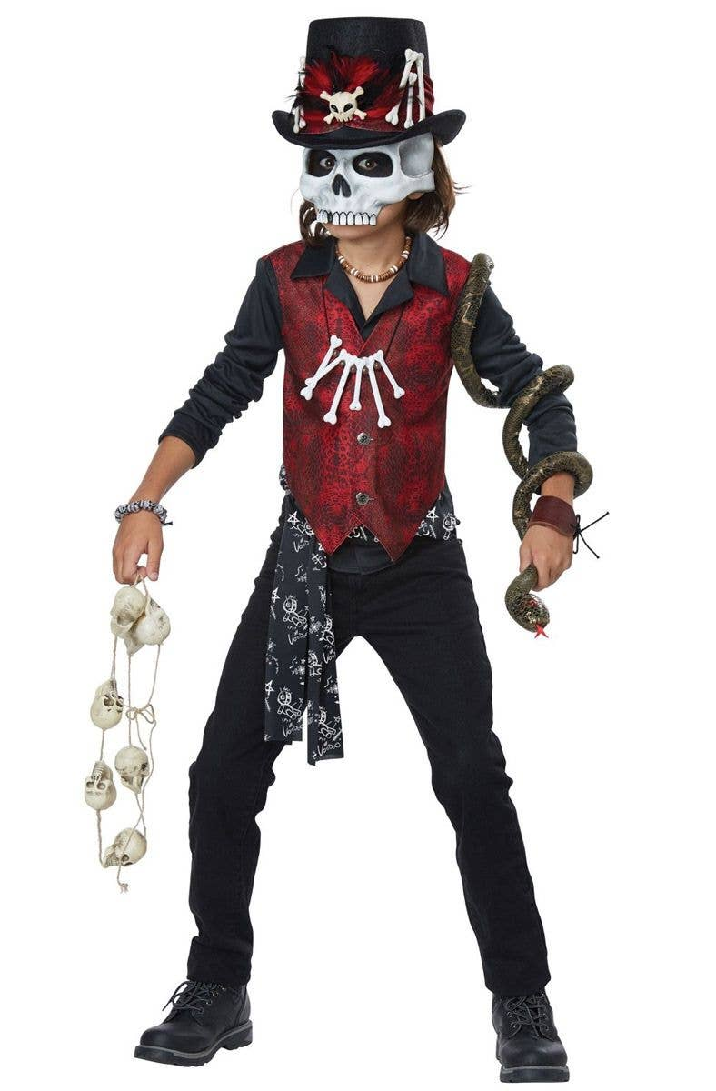 Mens Voodoo Doll Costume Adult Witch Doctor Halloween Fancy Dress Outfit Horror