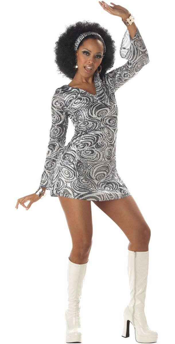 Girls Teen 60s 70s Hippy Disco Chick Fancy Dress Costume Disco Diva Kids
