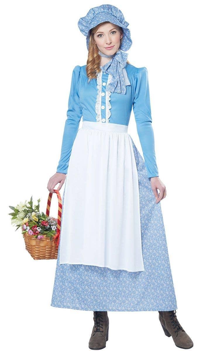 Girls Victorian Olden Day School Girl Costume Historical Book Week Fancy Dress