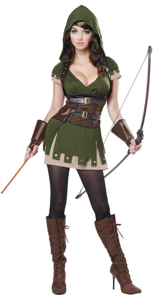 Child Robin Hood Fancy Dress Book Week Costume All Size