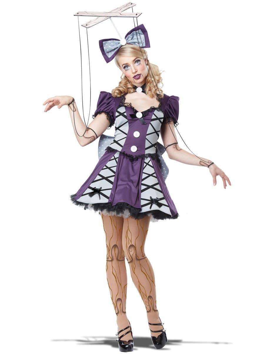 Evil Dummy Doll Girls Fancy Dress Halloween Horror Kids Childrens Costume Outfit