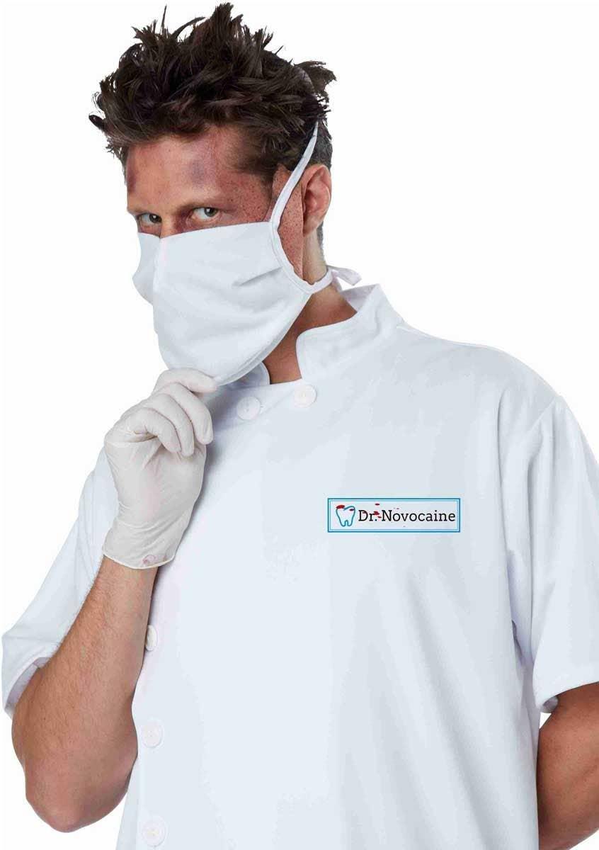 Halloween Dentist Scrubs Costume Mens T Shirt