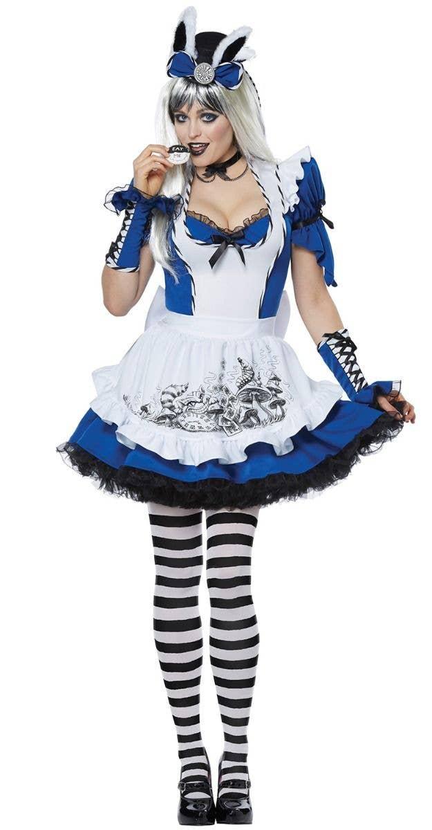 Hot Women Adult Alice In Wonderland Costume Cosplay World Book Day Fancy Dress
