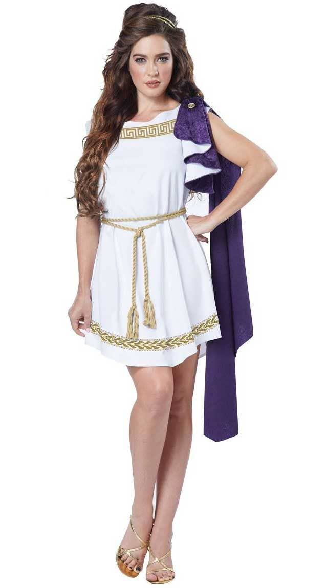 Roman Adults Fancy Dress Ancient Greek Grecian Womens Ladies Mens Costume Outfit