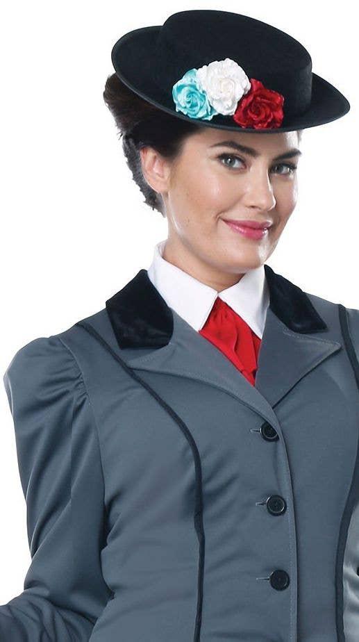 Victorian Nanny Women/'s Costume Fancy Dress Mary Poppins Style Plus Size 1X-2X
