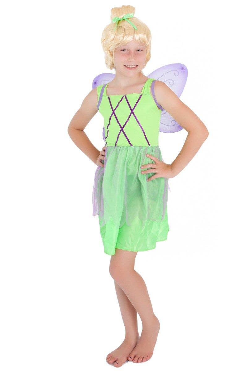 Girl/'s Tinkerbell Fairy Wings /& Wand Peter Pan Fancy Dress Book Week Kids Party