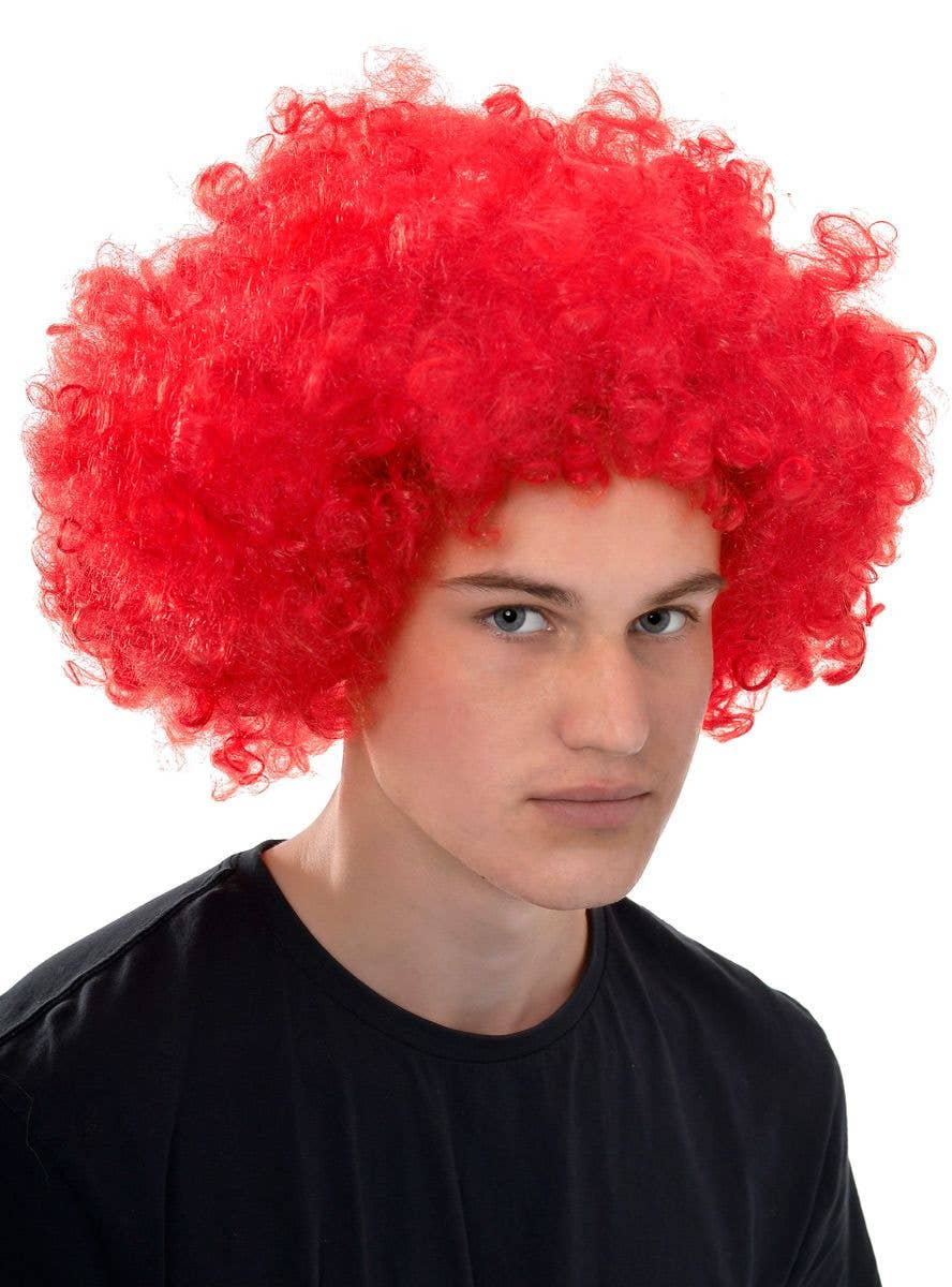 Red Curly Fro Clown Wig