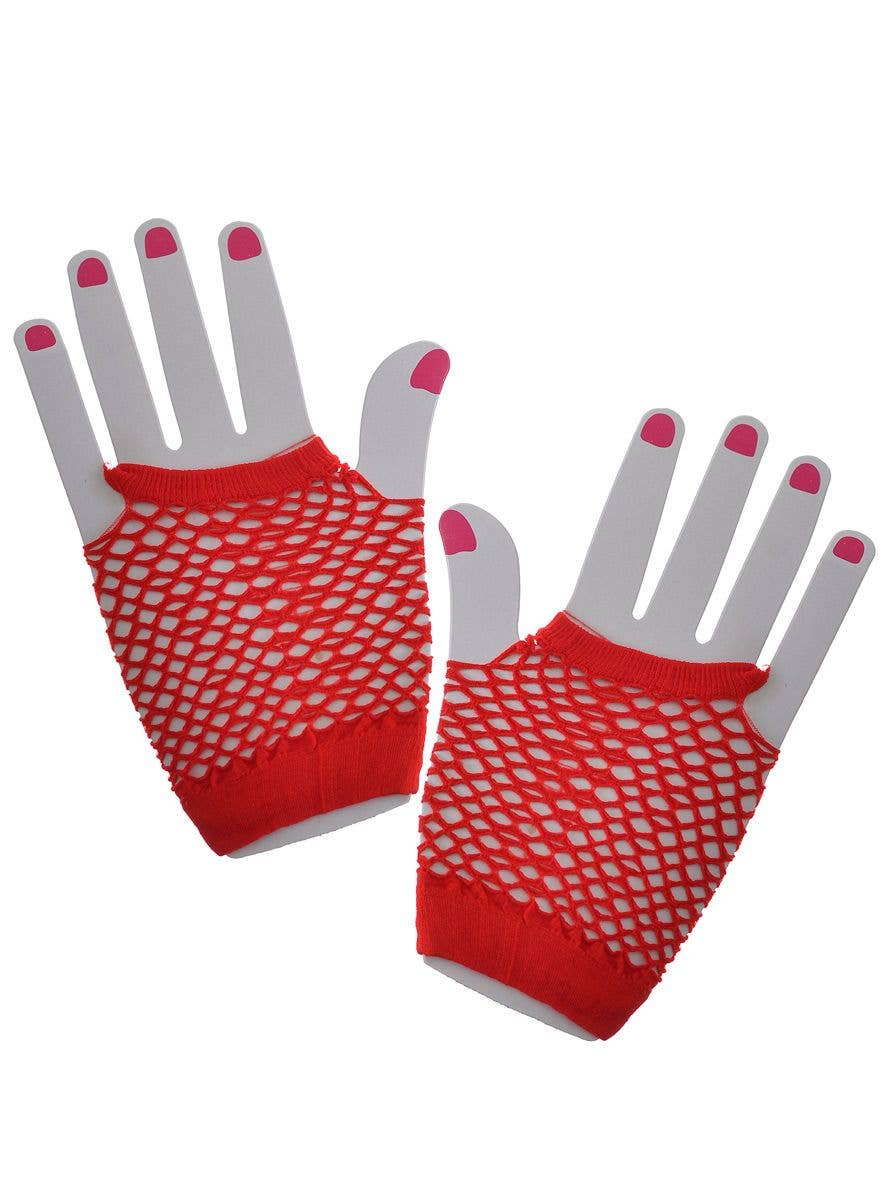Luxury Lace Up Fishnet Fingerless Wrist Gloves