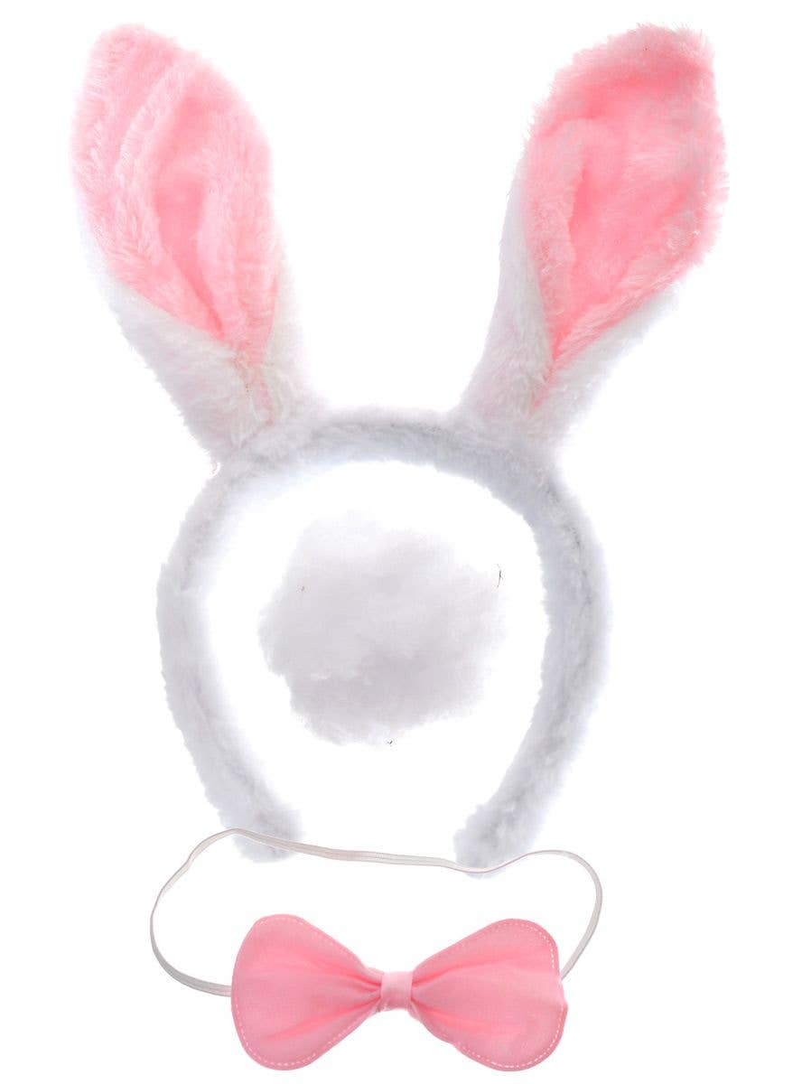 Child Soft Bunny Ear Headband Pink /& White Ears Costume Accessory Easter