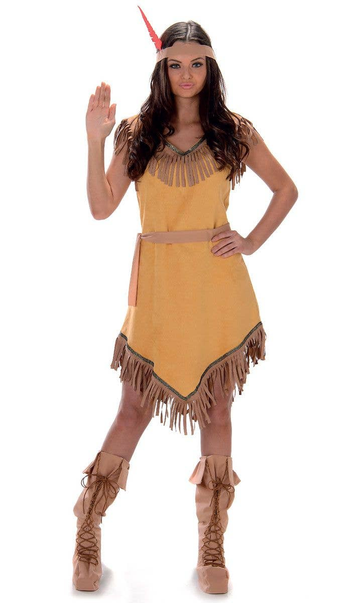 Pocahontas Costume Adult Indian Girl Halloween Fancy Dress