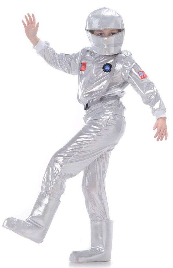 Kids Boys Astronaut Spaceman Fancy Dress Costume Uniform Book Week New Outfit