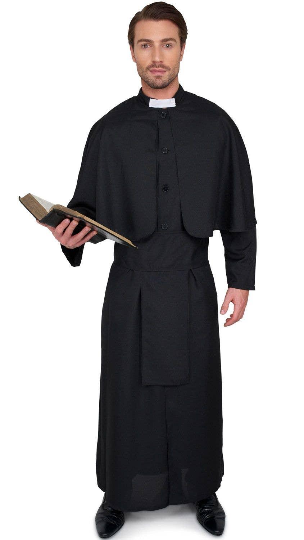 Priest Men S Fancy Dress Costume Religious Priest Robe For Men