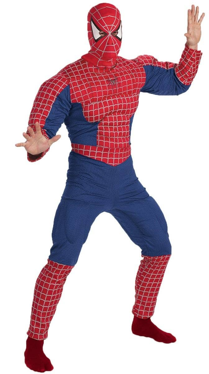 Deluxe Spider-Man Mens Fancy Dress Marvel Avengers Comic Superhero Adult Costume