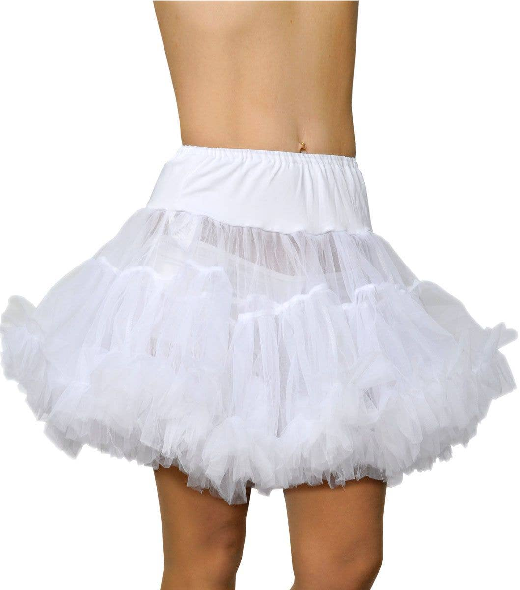 Fantasy Thigh Length White Fluffy Petticoat
