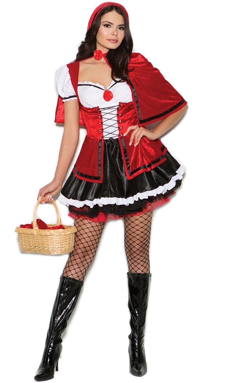 Wolf Head In Basket Red Riding Hood Halloween Fancy Dress Costume Prop