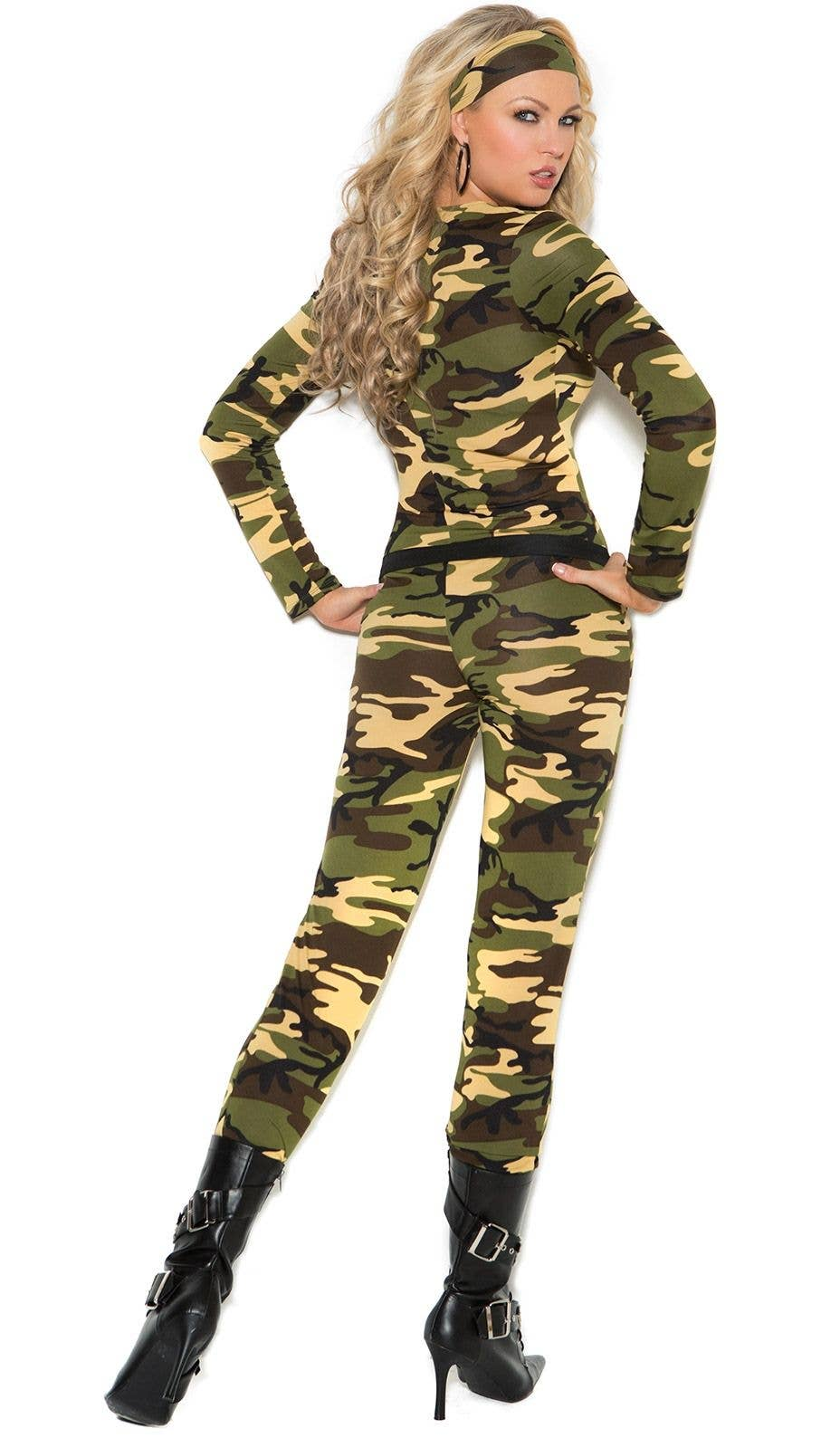 MENS ARMY FANCY DRESS OUTFIT CAMO SOLDIER COSTUME ADULTS MILITARY UNIFORM