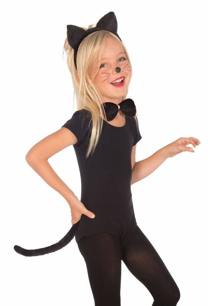 Cat Mouse Tail Plush Costume Accessory Black White Brown