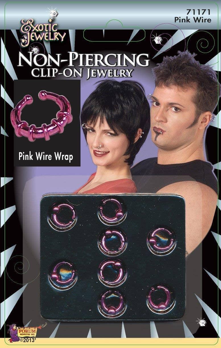 Clip On Punk Body Piercing Jewellery 70s Fancy Dress