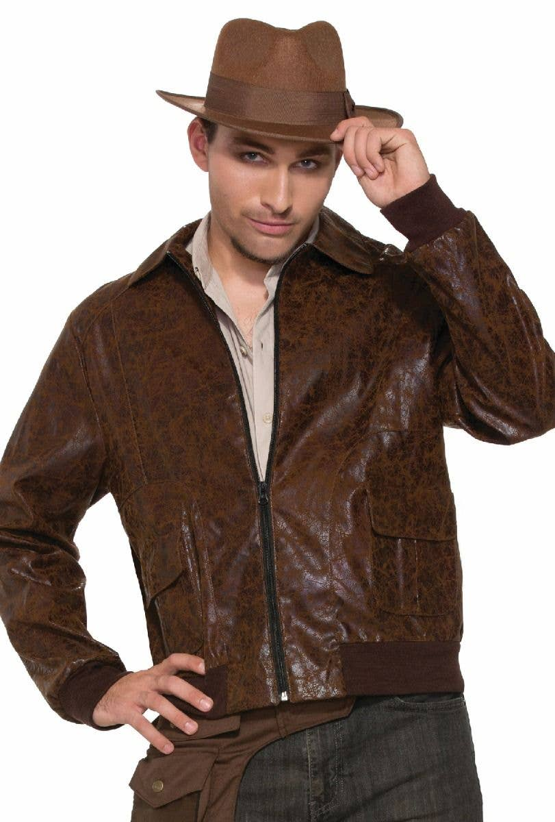 Indiana Brown Mens Smart Formal Suede Leather Waistcoat