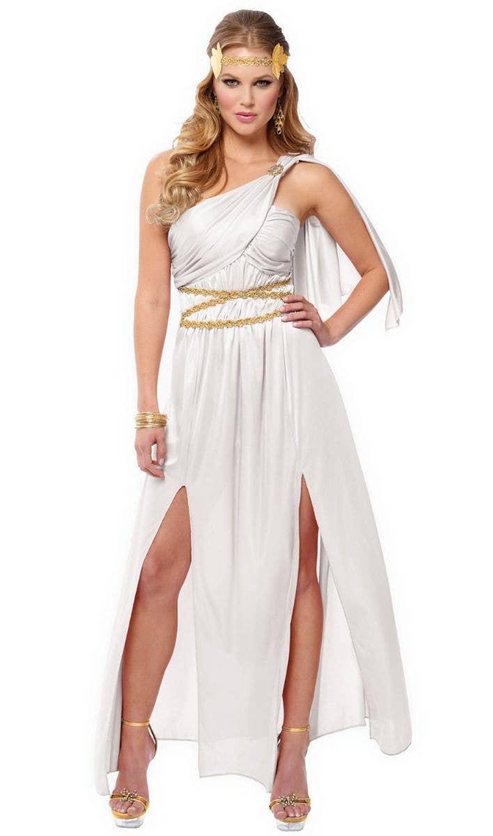 Roman Empress Greek Goddess Toga Ancient Dress Up Womens Plus Size