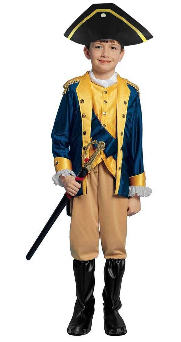 Boys Patriot Soldier Fancy Dress Costume American Civil War Military Outfit