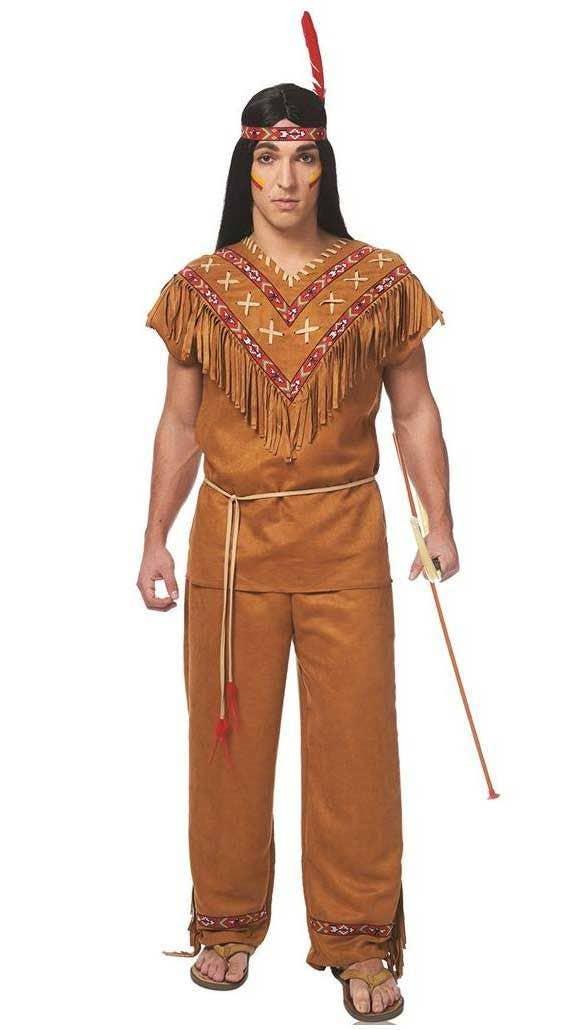 Native American Brave Men/'s Costume