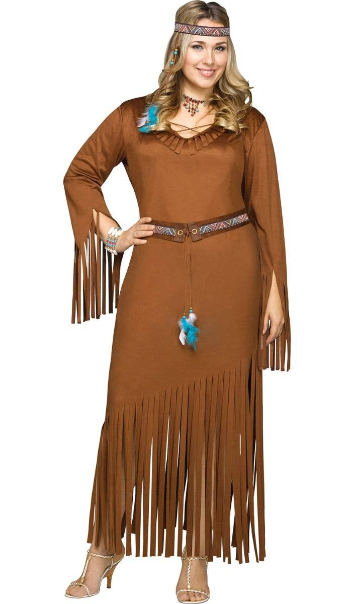 Indian Girl Native American Princess Maiden Fancy Dress Halloween Child Costume