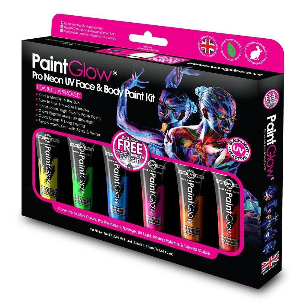 Pro 6 Colour UV Reactive Makeup | Blacklight Face Paint ...