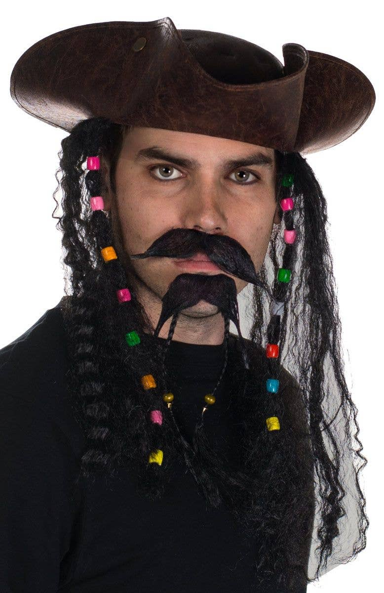 FANCY DRESS ACCESSORY ADULT DELUXE ANCIENT LOOK BROWN PIRATE TRICORN HAT