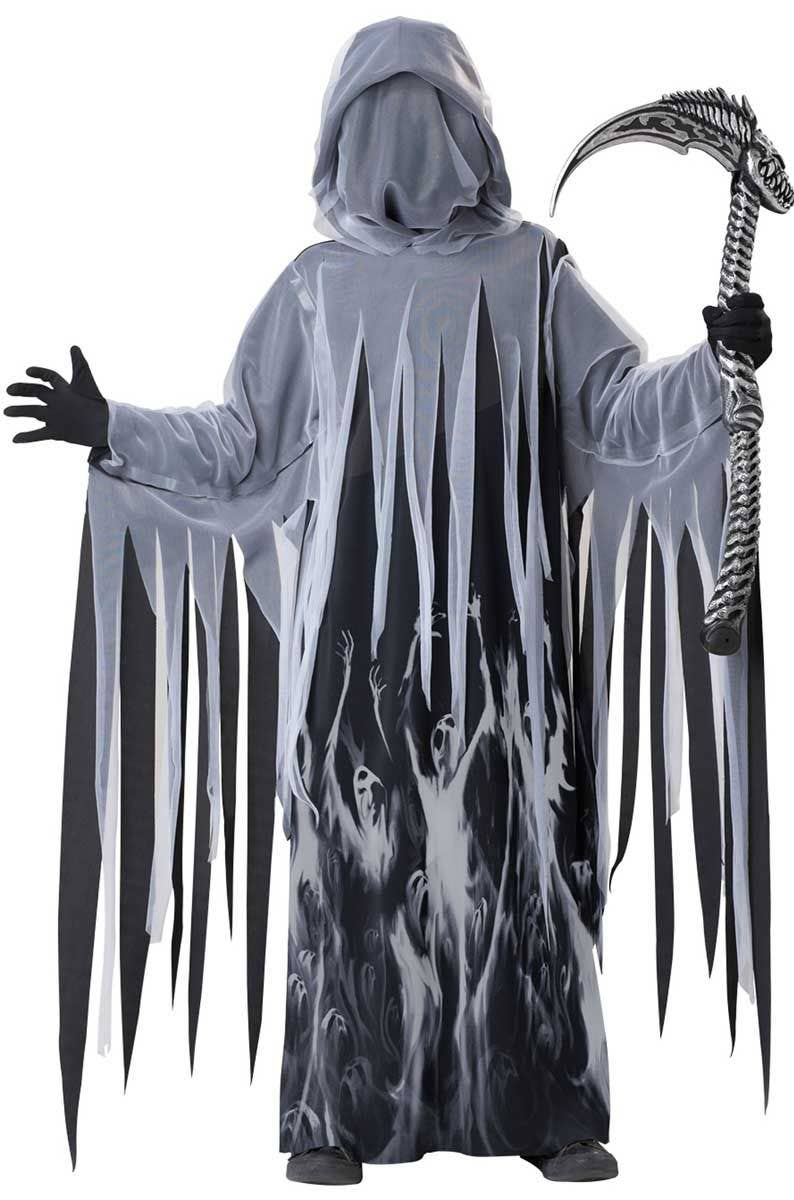 Ghoul Zombie Skull Reaper Fancy Dress Halloween Costume Makeup Latex Prosthetic