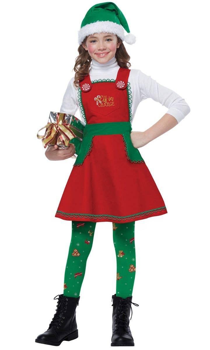 Christmas Green//Red Elf Mini Hat Pompom Headband Santas Helper Costume Accessory