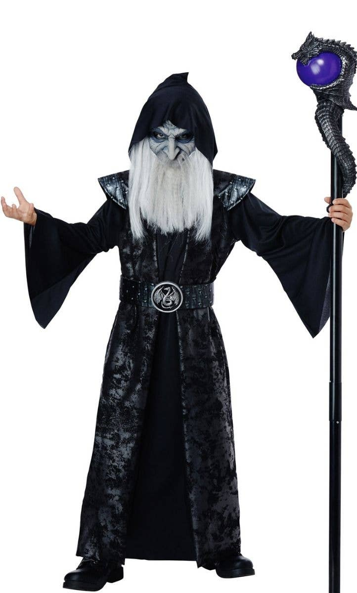 Halloween Fancy Dress Party Wig Long White,Santa,Magician Wizard Wig /& Beard