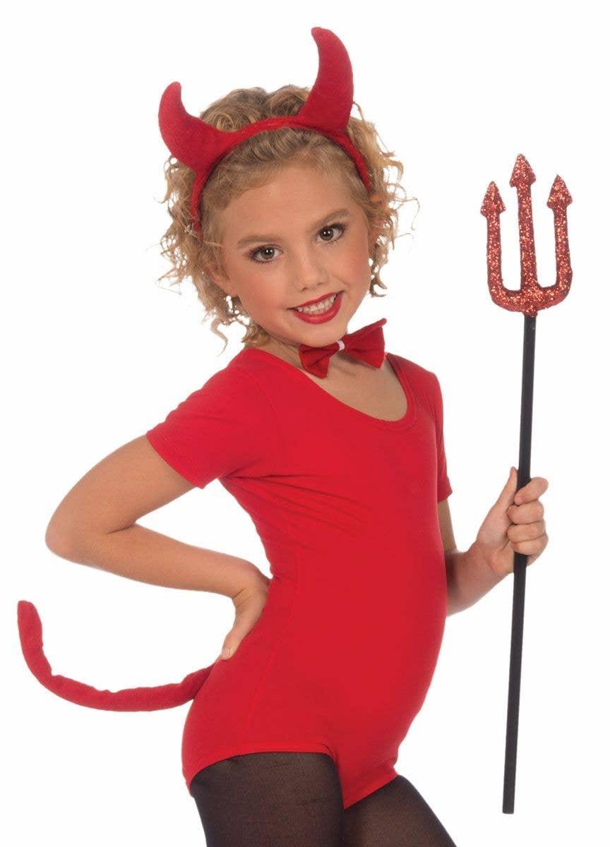 Cute Devil Girls Fancy Dress Halloween Kids Childs Trick or Treat Party Costume