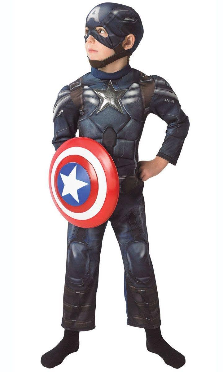 Winter Soldier Marvel Captain America Fancy Dress Up Halloween Child Costume
