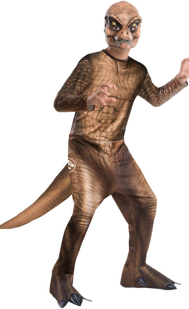 Boys Plush Dinosaur Costume T-Rex Fancy Dress Book Week