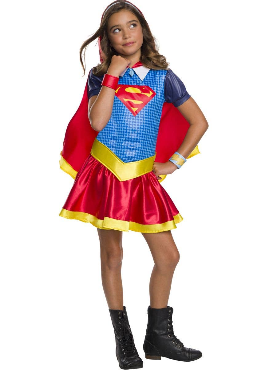 Supergirl Girls Fancy Dress DC Superhero Comic Book TV Show Kids Child Costume